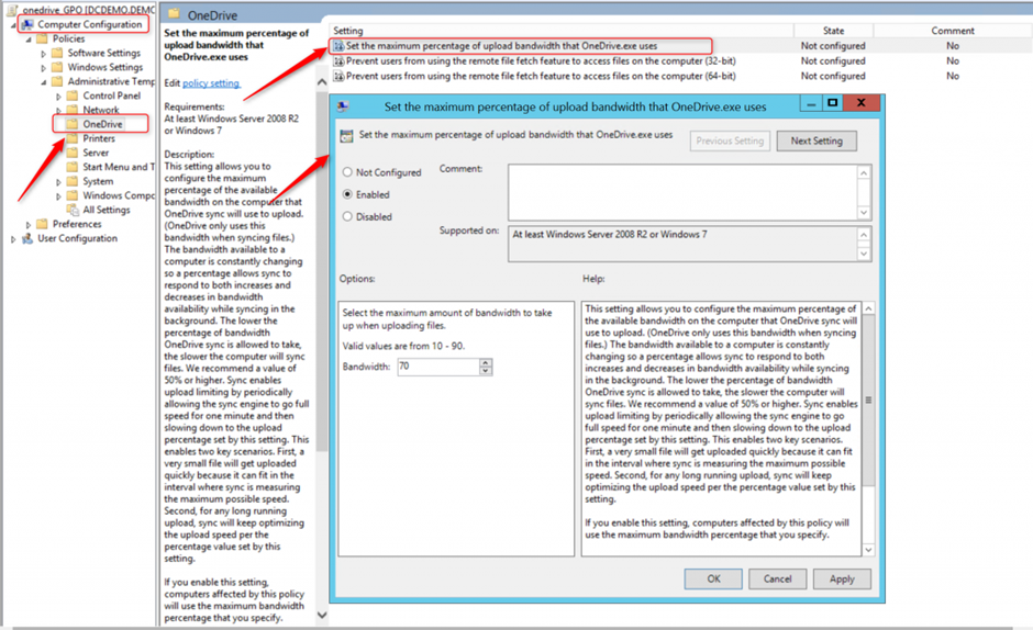 OneDrive ile Group Policy Kullanma – Computer Configuration